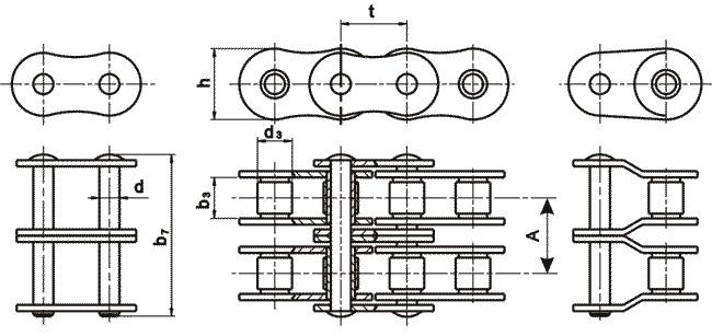 характеристики приводной цепи